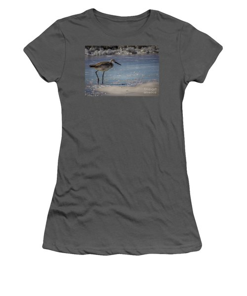 A Walk On The Beach Women's T-Shirt (Junior Cut) by Marvin Spates