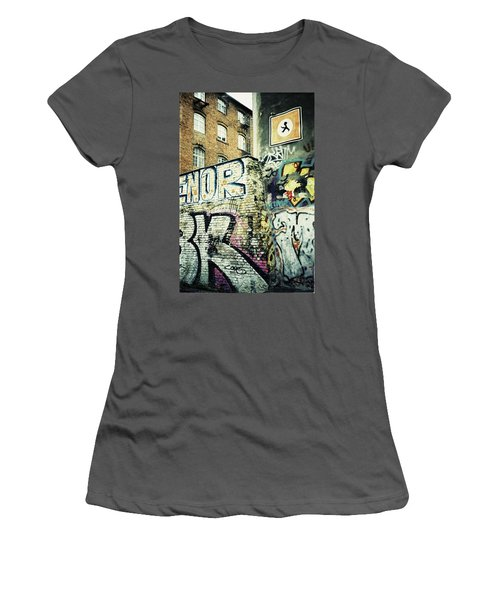 A Wall Of Berlin With Graffiti Women's T-Shirt (Athletic Fit)