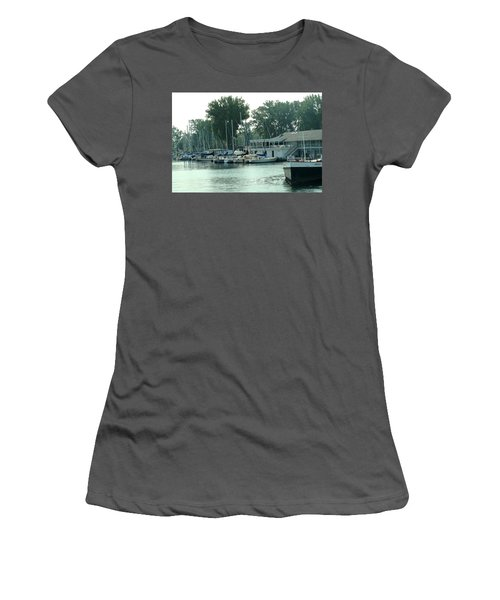 A Yacht Club Women's T-Shirt (Junior Cut) by Ian  MacDonald
