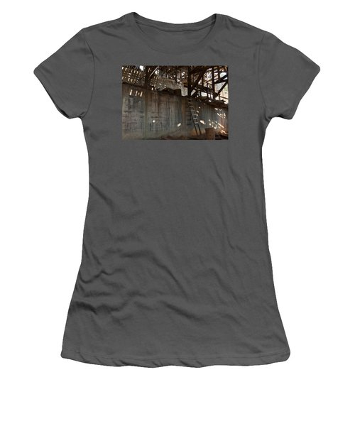 Women's T-Shirt (Junior Cut) featuring the photograph Abandoned by Fran Riley