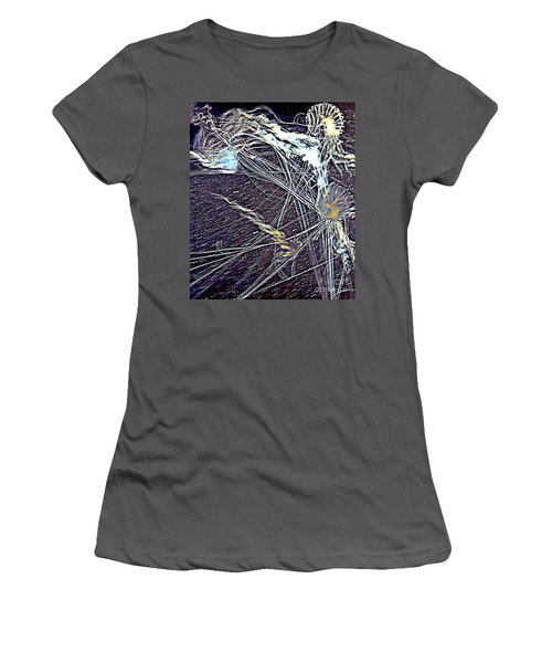 Women's T-Shirt (Junior Cut) featuring the photograph Aberration Of Jelly Fish In Rhapsody Series 1 by Antonia Citrino