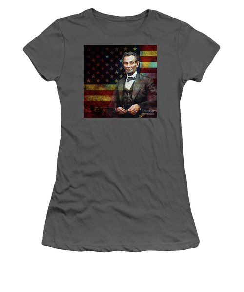 Abraham Lincoln The President  Women's T-Shirt (Junior Cut) by Gull G