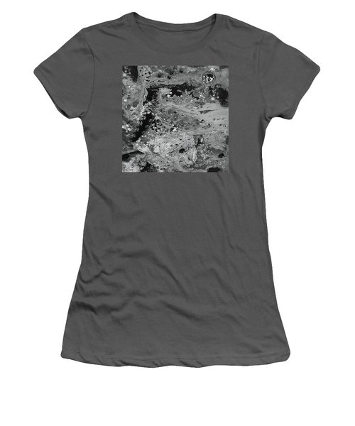 Abstract Acrylic Painting The Night Women's T-Shirt (Junior Cut) by Saribelle Rodriguez