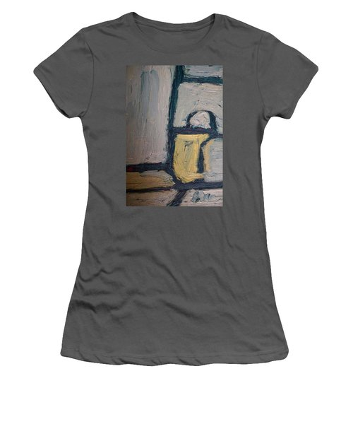 Abstract Blue Shapes Women's T-Shirt (Athletic Fit)