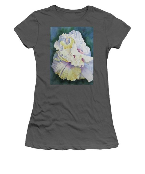 Women's T-Shirt (Junior Cut) featuring the painting Abstract Floral by Teresa Beyer