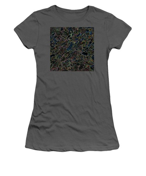 Women's T-Shirt (Athletic Fit) featuring the photograph Abstract II by Lewis Mann