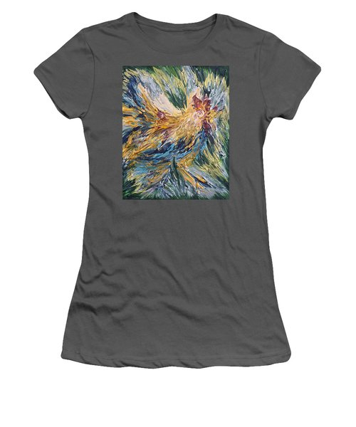 Abstract Guam Rooster Women's T-Shirt (Athletic Fit)