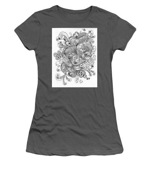 Abstract2 Women's T-Shirt (Junior Cut) by Quwatha Valentine