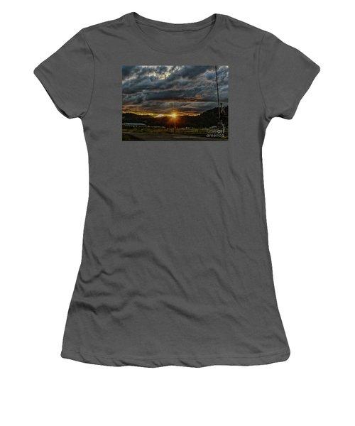 Across The Tracks Women's T-Shirt (Junior Cut) by Billie-Jo Miller