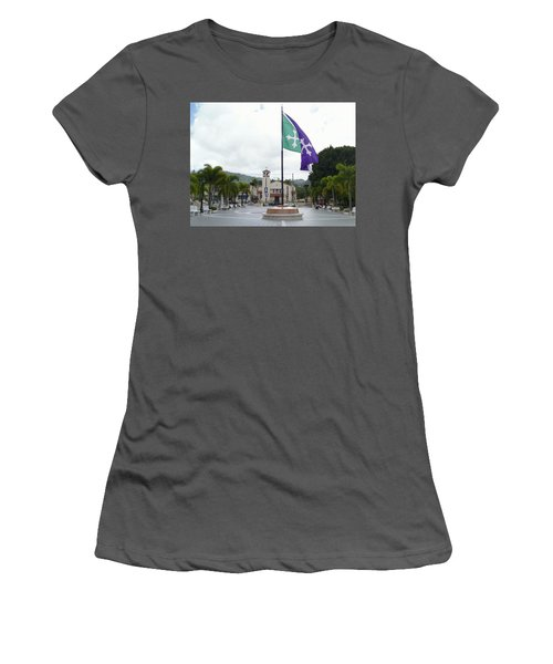 Adjuntas, Puerto Rico Flag Women's T-Shirt (Athletic Fit)