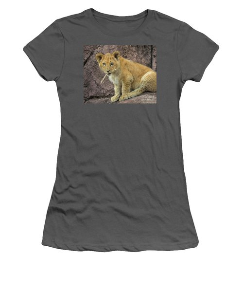 Adorable Lion Cub Women's T-Shirt (Athletic Fit)