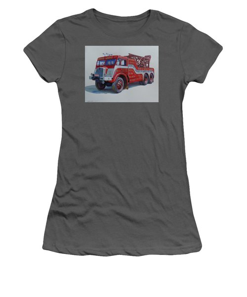Women's T-Shirt (Junior Cut) featuring the painting Aec Militant Dennis's. by Mike Jeffries