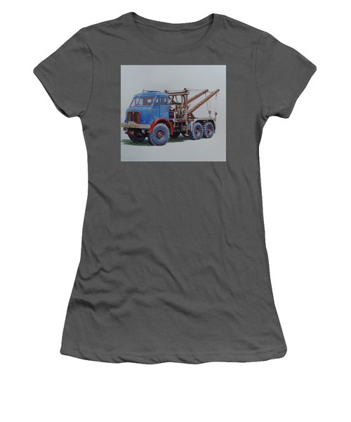 Women's T-Shirt (Junior Cut) featuring the painting Aec Militant Wrecker. by Mike Jeffries