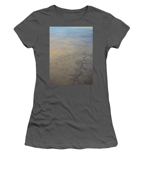 Women's T-Shirt (Junior Cut) featuring the photograph Aerial 2 by Steven Richman