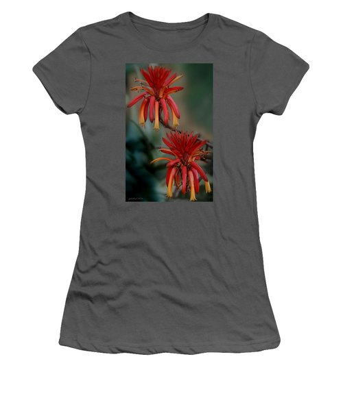 African Fire Lily Women's T-Shirt (Athletic Fit)