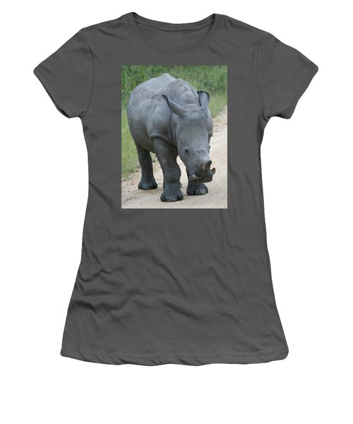 African Rhino Women's T-Shirt (Athletic Fit)