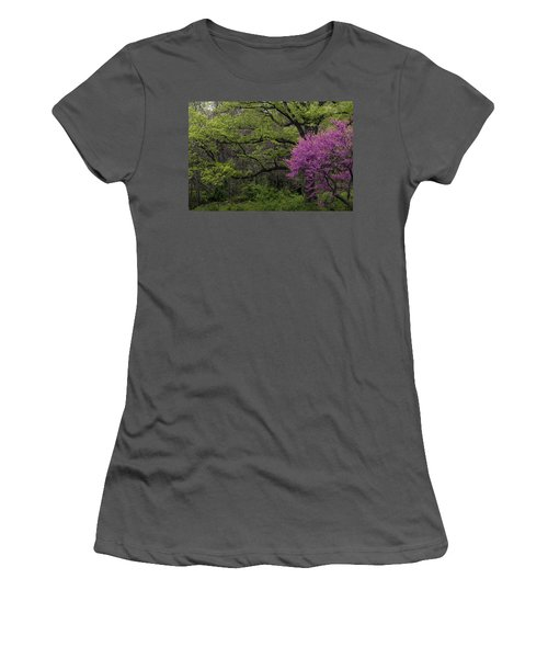 Afton Virginia Spring Red Bud Women's T-Shirt (Athletic Fit)