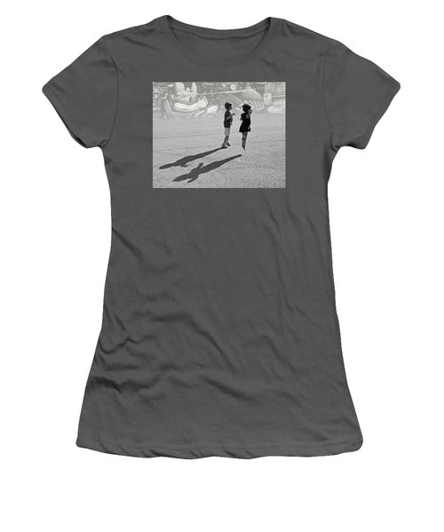 Against Gravity Women's T-Shirt (Junior Cut) by Christopher McKenzie