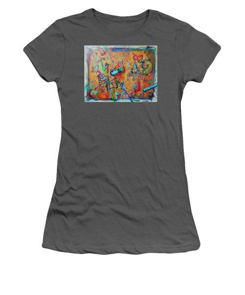 Digital Landscape, Airbrush 1 Women's T-Shirt (Athletic Fit)