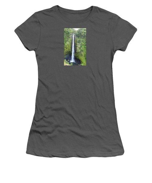 Women's T-Shirt (Junior Cut) featuring the photograph Akaka Falls by Kerri Ligatich