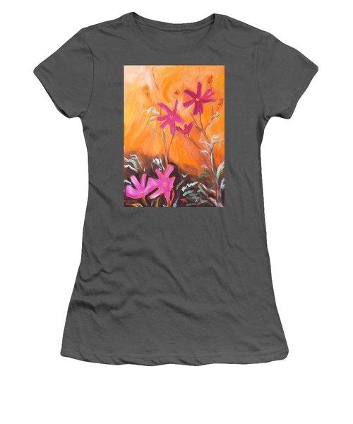 Alba Daisies Women's T-Shirt (Junior Cut) by Winsome Gunning