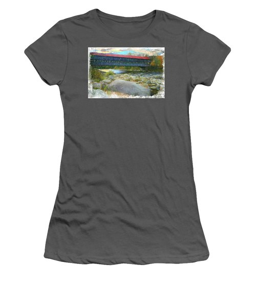 Albany Covered Bridge Nh. Women's T-Shirt (Athletic Fit)
