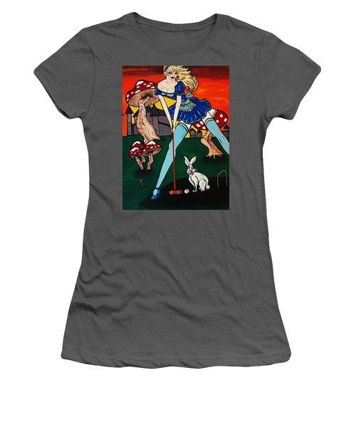 Alice's  In Wonderland Women's T-Shirt (Junior Cut) by Nora Shepley