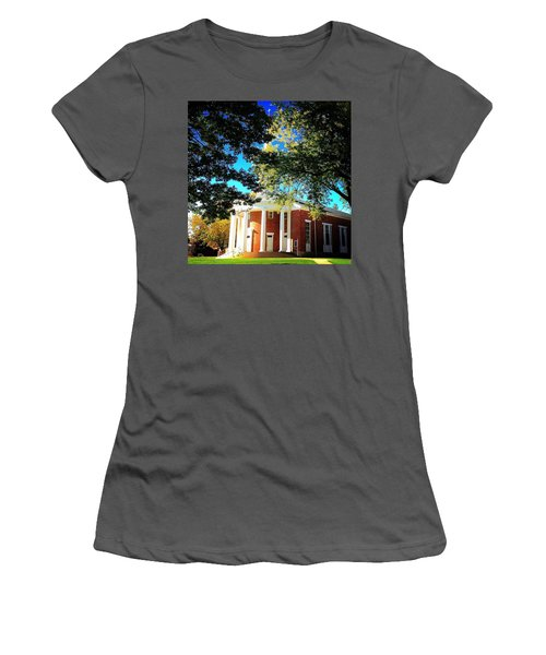 Alma College Dunning Memorial Chapel Women's T-Shirt (Athletic Fit)
