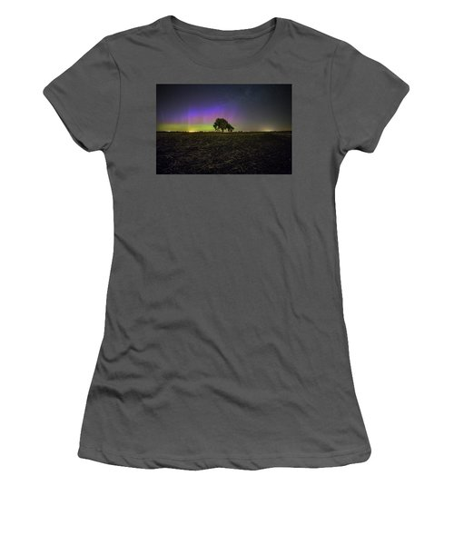 Women's T-Shirt (Junior Cut) featuring the photograph Alone by Aaron J Groen