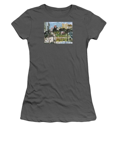 Along Flagler Drive Women's T-Shirt (Athletic Fit)