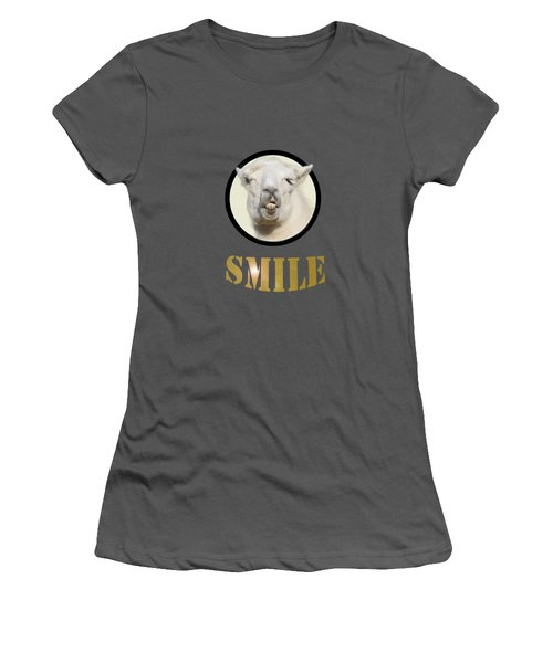 Alpaca Smile  Women's T-Shirt (Athletic Fit)