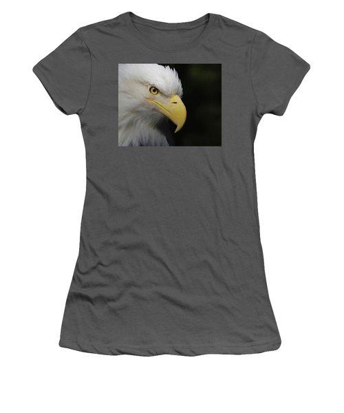 Women's T-Shirt (Junior Cut) featuring the digital art American Bald Eagle Portrait 4 by Ernie Echols