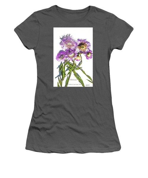 American Basket Flower Women's T-Shirt (Athletic Fit)