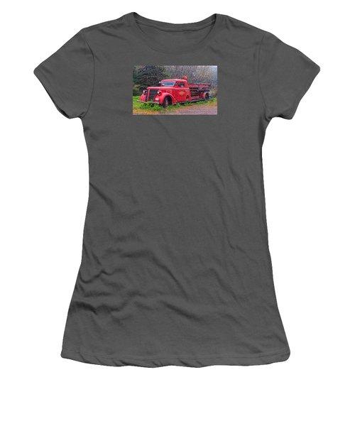 American Foamite Firetruck2 Women's T-Shirt (Athletic Fit)
