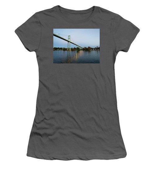 American Span Thousand Islands Bridge Women's T-Shirt (Athletic Fit)