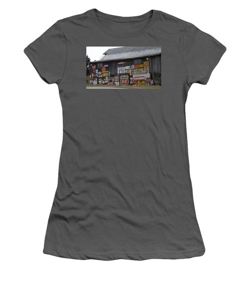 Americana Signs Women's T-Shirt (Junior Cut) by Don Koester