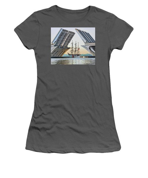America's Tall Ship Women's T-Shirt (Athletic Fit)