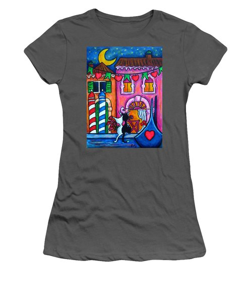 Amore In Venice Women's T-Shirt (Athletic Fit)