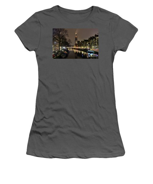 Amsterdam By Night - Prinsengracht Women's T-Shirt (Athletic Fit)