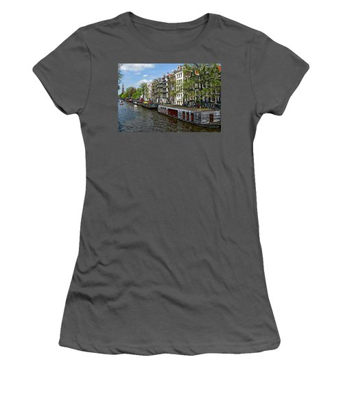 Amsterdam Canal Women's T-Shirt (Junior Cut) by Anthony Dezenzio