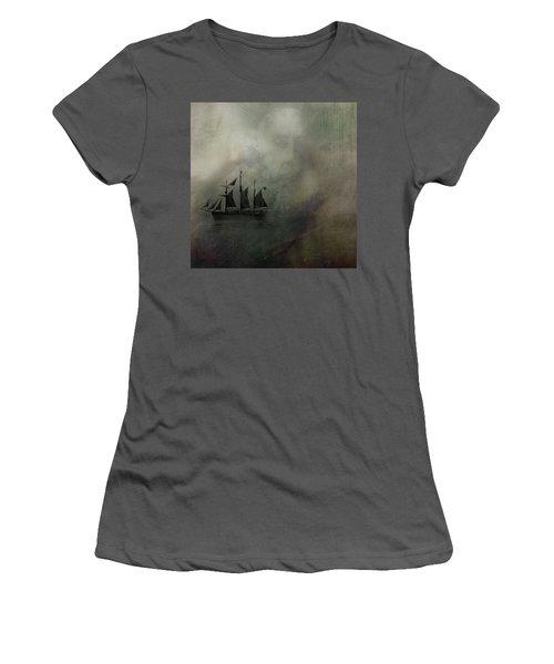 Women's T-Shirt (Junior Cut) featuring the digital art Amundsen And Fram by Andy Walsh
