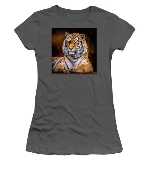 Amur Tiger Women's T-Shirt (Junior Cut) by Brian Tarr