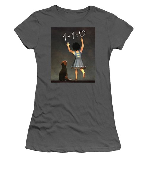 Amy Educating Buddy Math Women's T-Shirt (Athletic Fit)