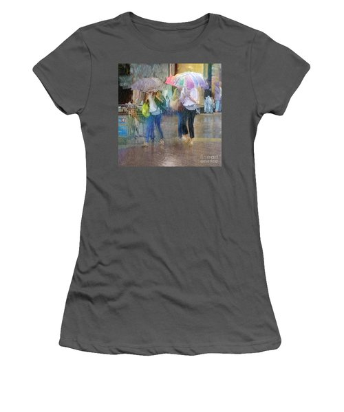Women's T-Shirt (Athletic Fit) featuring the photograph An Odd Sharp Shower by LemonArt Photography