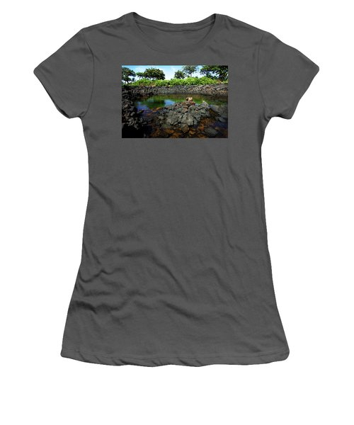 Women's T-Shirt (Junior Cut) featuring the photograph Anchialine Pond by Anthony Jones