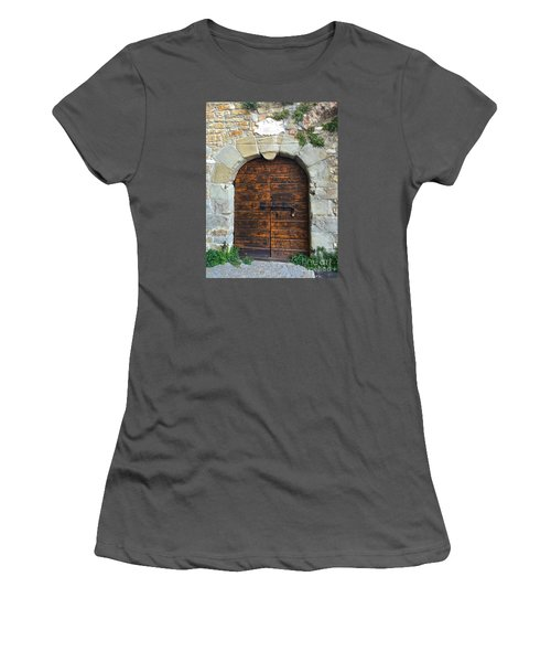 Ancient Castle Castel Door Trieste Women's T-Shirt (Athletic Fit)