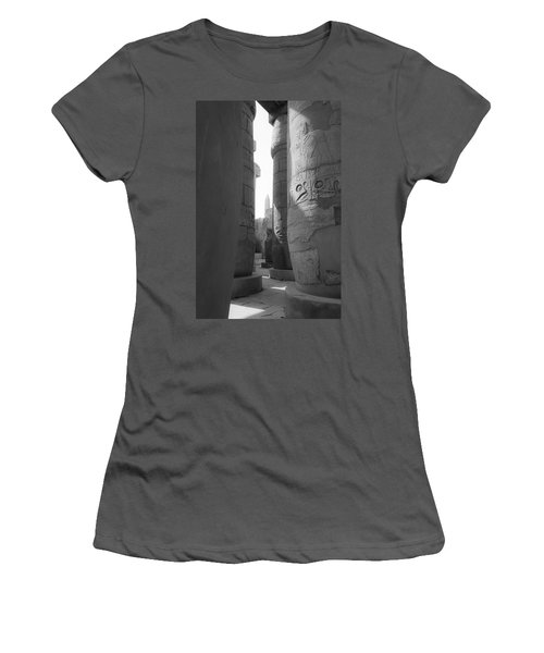 Women's T-Shirt (Athletic Fit) featuring the photograph Ancient Silence by Silvia Bruno