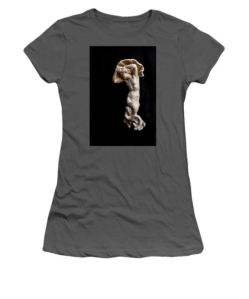 Ancient Statue Of The Virgin Of The Sea Women's T-Shirt (Athletic Fit)