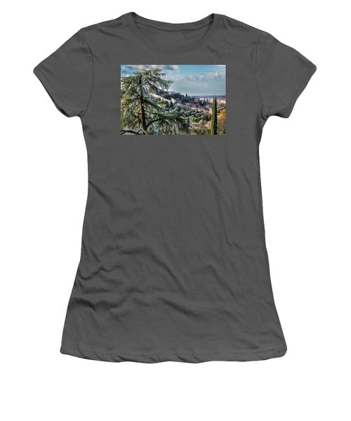 Ancient Walls Of Florence Women's T-Shirt (Athletic Fit)
