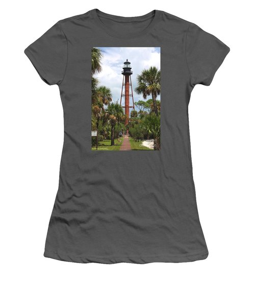 Anclote Key Lighthouse Women's T-Shirt (Athletic Fit)